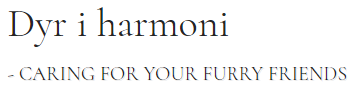 Dyr i Harmoni